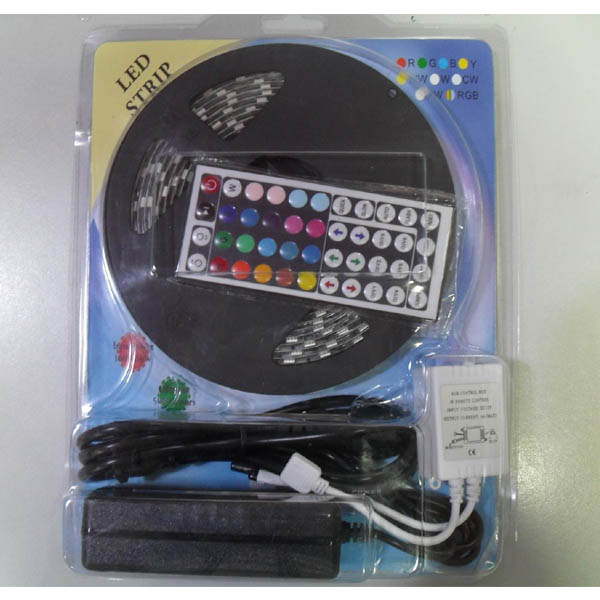 SMD5050 RGB LED Strip + LED RGB Controller + Power Supply Kit
